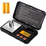 Gram Scale, Small Digital Scale for Weed, Mini Pocket Jewelry Scale With LCD Display, 200g x 0.01g High Precision Grams and O