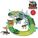 レールセット 恐竜おもちゃ 144点 汽車 軌道 セット ジュロキパーク 橋 道路 建築 知育おもちゃ 誕生日 クリスマスプレゼント …