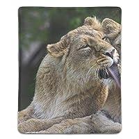 マウスパッド ライオン 滑り止め 防水 PC ラップトップ 水洗い レーザー 光学式 18*22cm