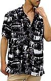 ROUSHATTE(ルーシャット) 大きいサイズ メンズ シャツ アロハシャツ 柄シャツ 開襟 レーヨン 柄B 4L