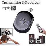 apt-X対応 Bluetooth トランスミッター&レシーバー BTTC-200X(apt-X)  高音質伝送 送信・受信両用 オーディオステレオコンポ外部接続