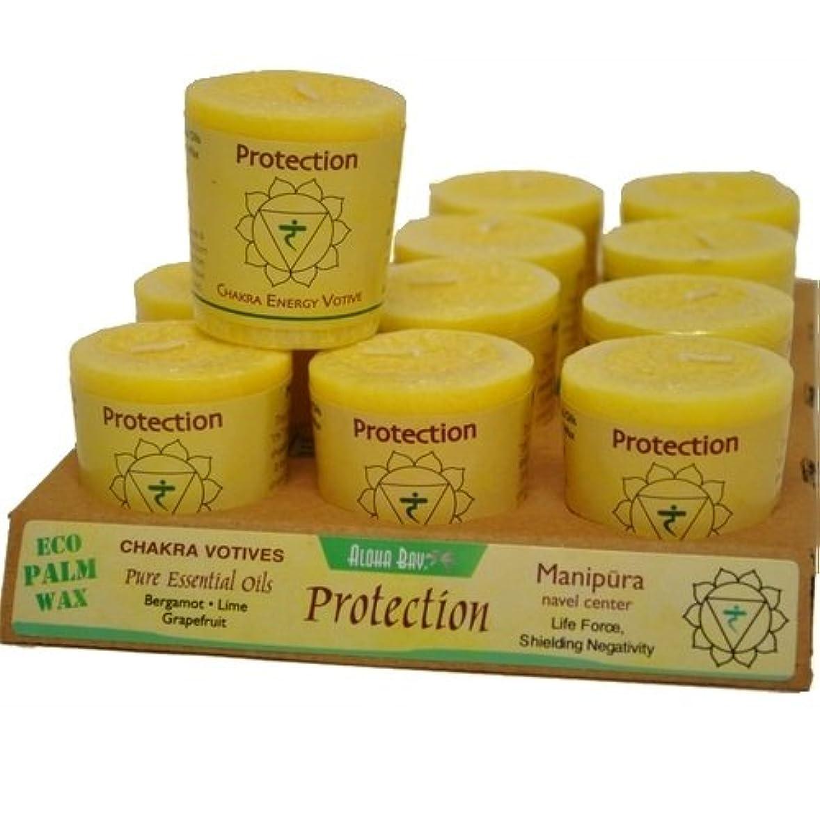 車両分配しますスカートAloha Bay Chakra Votive Candle - Protection - Case of 12 - 2 oz