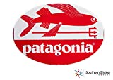 パタゴニア メンズ 楕円形のパタゴニアフライ魚レッド4x 5.5インチサイズ–面白いのステッカー建設ハード帽子Pro Union WorkingメンズランチボックスツールボックスシンボルウィンドウMotorcycle Biker Car–Madeとアメリカで発送