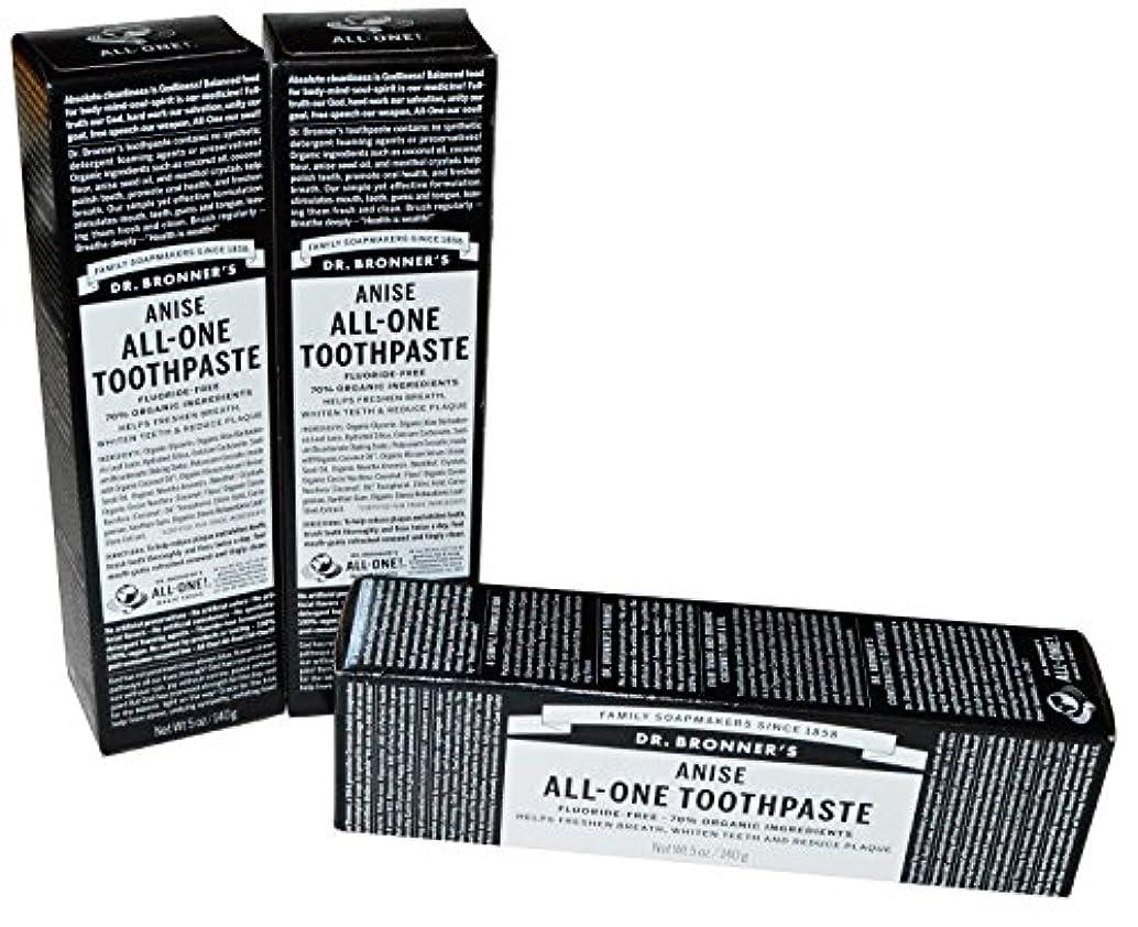 価格天井会計士Dr Bronner's Anise All-One Toothpaste, 5 oz by Dr. Bronner's