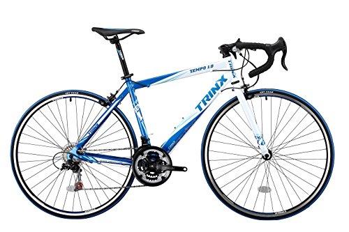 TRINX(トリンクス) 【ロードバイク】 入門用 補助ブレーキ付き Shimano21速 エントリーモデル 軽量 アルミフレーム TEMPO TEMPO ブルー/ホワイト 480mm