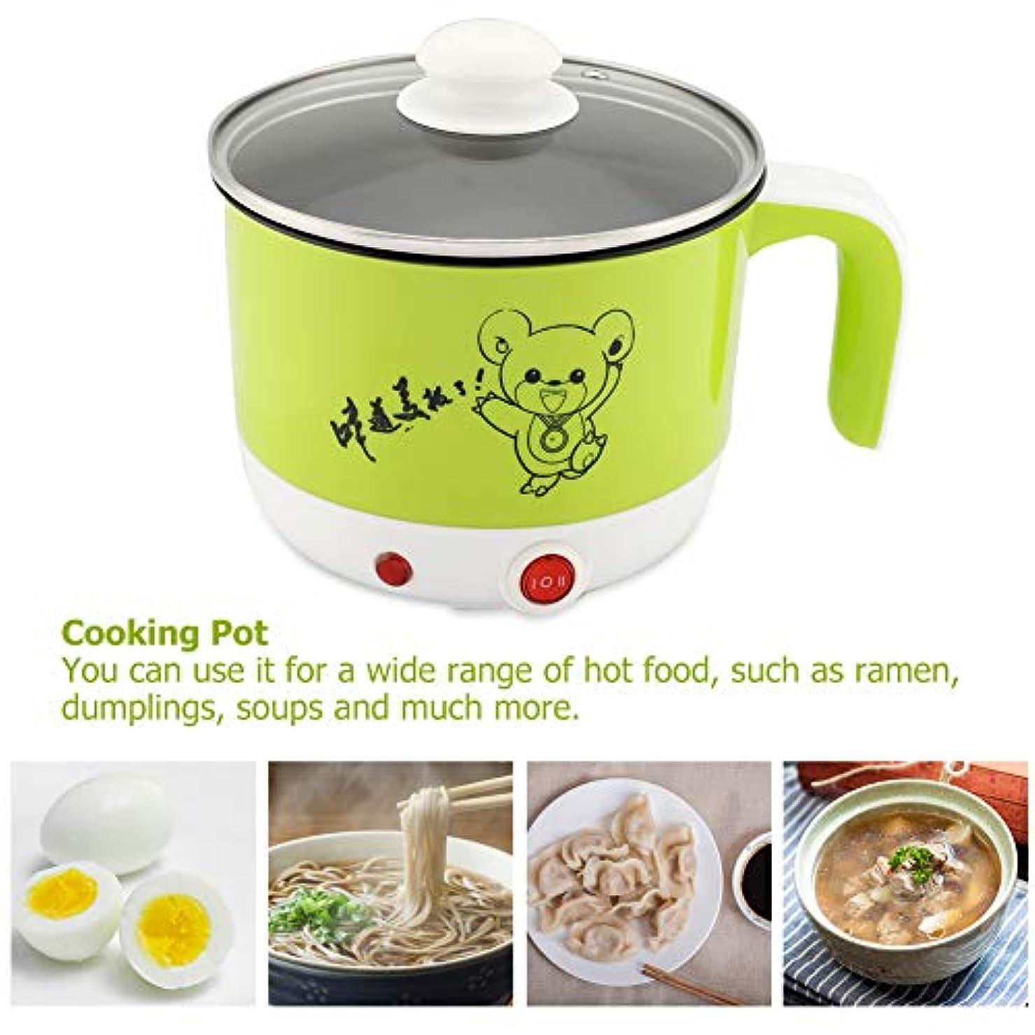ピッチ離す蜜電気ミニ調理鍋、1.8L 450W安全調理鍋、学生用(Mint Green)