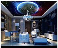 3D Wallpaper Mural Ceiling Silk Cloth Cosmic Starry Sky Zenith Ceiling Mural 200X140Cm Ayzr