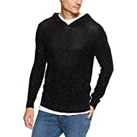 French Connection Men's Marl Pull Over Knit Hoodie