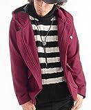 メルトンウールパーカージャケット ピーコート Pジャケット ピージャケット コート メンズ XLサイズ ワイン