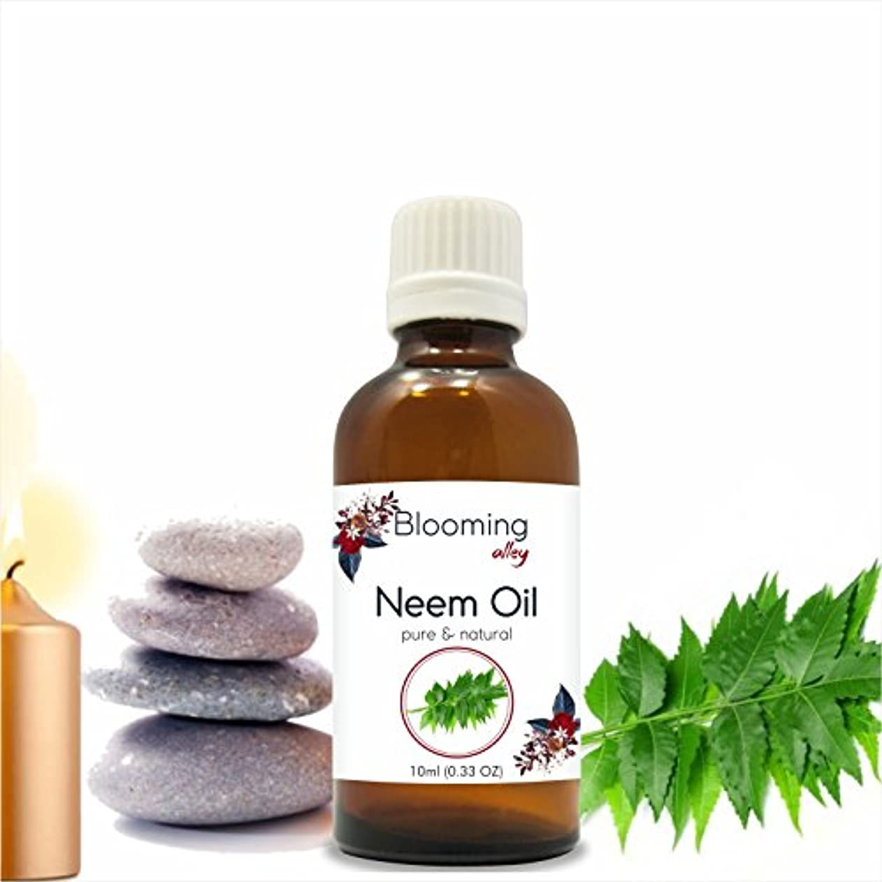 軽量かけがえのない保護するNeem Oil (Azadirachta Indica) Essential Oil 10 ml or 0.33 Fl Oz by Blooming Alley