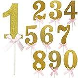 誕生日 数字 ナンバーピック バースデー ケーキトッパー 数字ピック 飾り デコレーション (5)