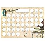 オリジナル出席カード ピアノと窓 【40回レッスン+予備4回対応】 10枚入り PRFG-052