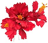 refcia[レフシア]ハイビスカス ハワイアンフラワー 花 ヘッドドレス ヘアピン Uピン 浴衣 着物 ドレス 髪飾り