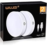 Motion Sensor Night Light, WILLED USB Cordless Rechargeable Motion Activated LED Light,Stick-Anywhere Closet Lights,Stair Lig