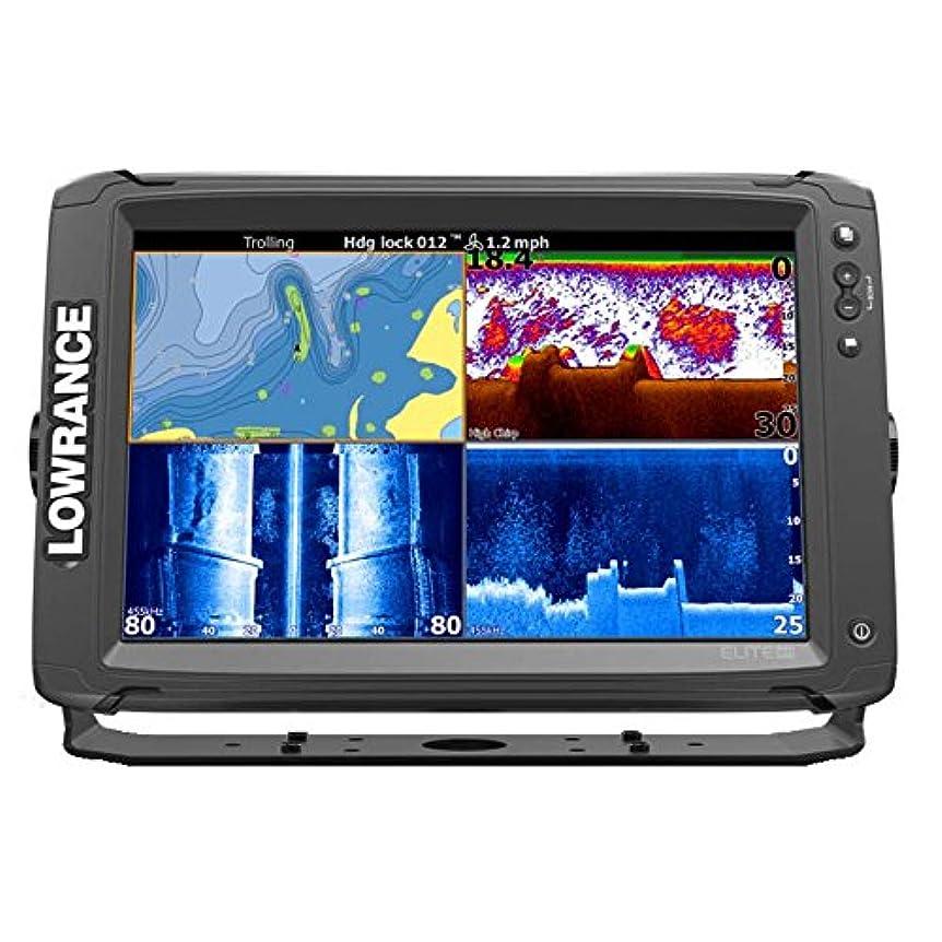 器具弱まるオペラ【LOWRANCE/ロランス】Elite-12Ti 深場用振動子付 簡易海図AT5マップ付き GPS魚探