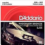 D'Addario ダダリオ バンジョー弦 フォスファー Medium 5弦 .010-.023 EJ55 【国内正規品】