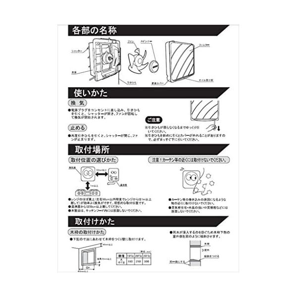 日本電興(NIHON DENKO) 一般換気扇...の紹介画像3
