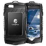 LongRise(ロング ライズ) iPhone6 Plus / iPhone6s Plus ケース 耐衝撃 防塵 軽量、アウトドア スポーツに最適なアイフォン 6sプラス / 6 プラス 用ケース カラビナ付き (ブラック)