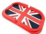 (K-JOY) BMW MINI ミニクーパー ノンスリップマット 小物入れ / ドリンクコースター 英国旗 社外品 (ノンスリップマット単品, ユニオンジャック赤)