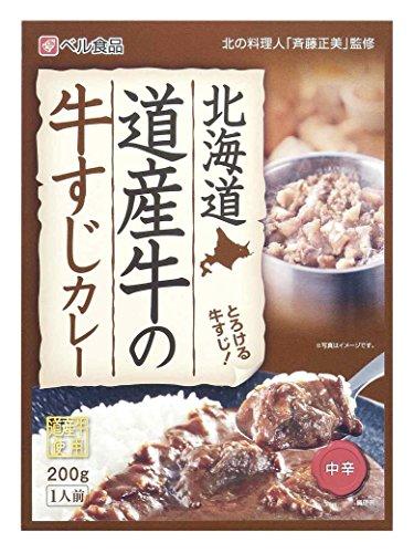 ベル食品 北海道 道産牛の牛すじカレー 200g×5箱