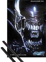 ポスター+ハンガー: Alien vs。Predatorティーザーポスター(40x 27インチAlien、および1のセットブラック1art1ポスターハンガー