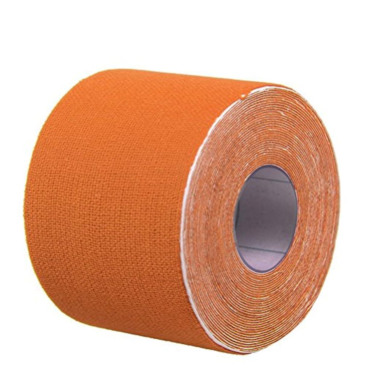 矢じりスカイ忌避剤ROSENICE キネシオロジーテープセットセラピースポーツフィジオセラピー500x2.5cm(オレンジ)