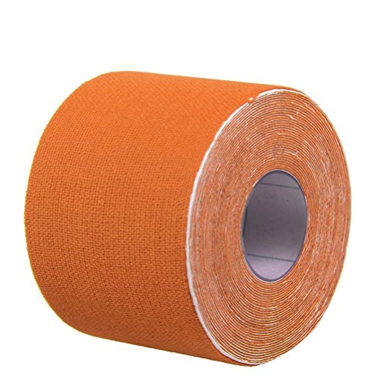 溶岩謙虚な元気なROSENICE キネシオロジーテープセットセラピースポーツフィジオセラピー500x2.5cm(オレンジ)