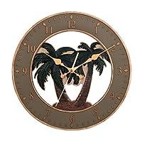 Ashton Sutton CX1460 Quartz Analog Resin Palm Tree Case Wall Clock [並行輸入品]