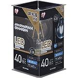アイリスオーヤマ LED電球 フィラメント 口金直径26mm 40W形相当 昼白色 全配光タイプ 調光器対応 クリア LDA4N-G/D-FC