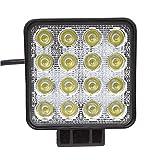 Daiwin LED ワークライト 作業灯 48W CREE (12V/24V兼用) 10-30VDC 広角 IP67 省エネ 船舶/各種作業車対応 簡単設置 【1個】
