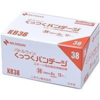 ニチバン スポーツ用自着包帯 バトルウィンくっつくバンテージ 38mm幅 4m巻き 12巻入り