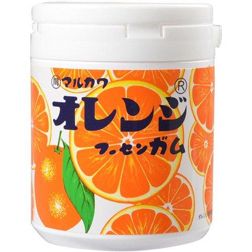 【6個セット】丸川製菓 オレンジマーブルガムボトル 130g×6点セット オレンジマーブルガムのボトルタイプ