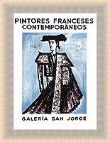 ポスター ベルナール ビュフェ Galeria San Jorge 額装品 ラルゴフレーム(ゴールド)