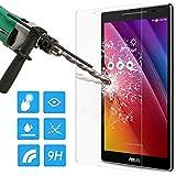 ATiC ASUS ZenPad 8.0 Z380 タブレット専用強化ガラス液晶保護フィルム 表面硬度9H/2.5Dラウンド処理/耐衝撃/高透明度/指紋防止/気泡ゼロ 透明 (一枚)
