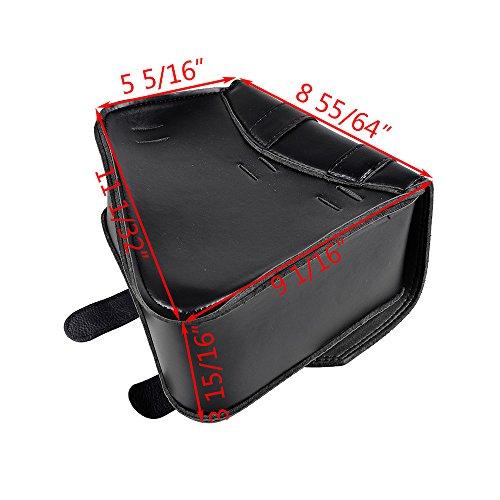 ブラックPUレザー右ソロSideスイングアームサドルバッグfor Harley Sportster xl883xl1200