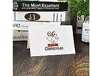 FenBuGu-JP 1 Pcクリスマスグリーティングカードクリスマスバレスカード封筒招待状カードギフトカード(ベル)