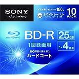 SONY ビデオ用BD-R 1回録画用 片面1層25GB 4倍速 ホワイトプリンタブル 10枚パック 10BNR1VGPS4