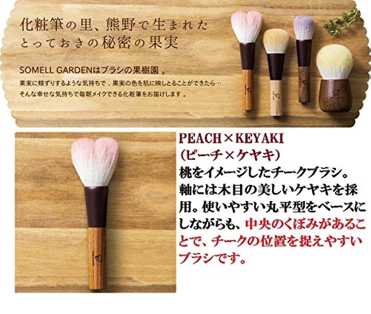 ご意見啓発するトラップ広島県 熊野化粧筆 SOMELL GARDEN ブラシシリーズ (ピーチ×ケヤキ)
