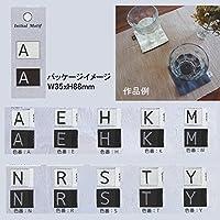 タグ 縫いつけタイプイニシャルピスネームIMN-01 色番:N 【袋(2枚入り)】