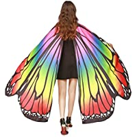 OVERMAL Women Butterfly Wings Shawl Scarves Ladies Nymph Pixie Poncho Costume Accessory