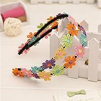LuxBene(TM)夏のスタイルの刺繍の花髪のフープベビーヘアアクセサリー子供のヘアバンド幼児カチューシャ