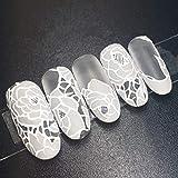 XUTXZKA 24個の花嫁の偽の釘白い花ロングステッカーホームウェディング