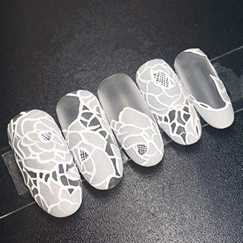 招待嬉しいです父方のXUTXZKA 24個の花嫁の偽の釘白い花ロングステッカーホームウェディング