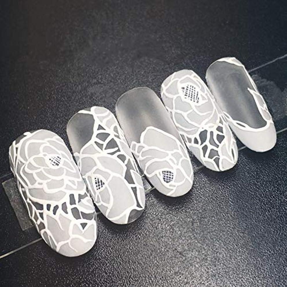 仕方敬意を表するのりXUTXZKA 24個の花嫁の偽の釘白い花ロングステッカーホームウェディング