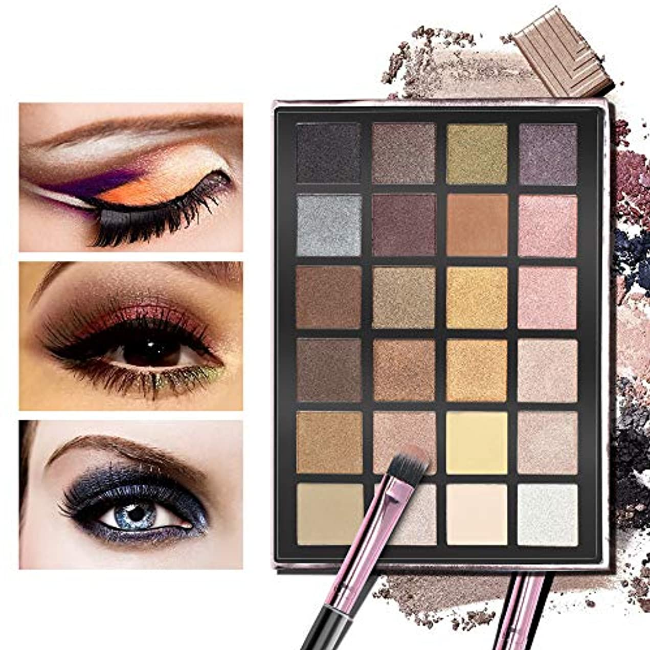 Akane アイシャドウパレット ANYLADY 人気 ファッション ゴージャス 綺麗 欧米風 日本人肌に合う マット つや消し 持ち便利 Eye Shadow (24色)