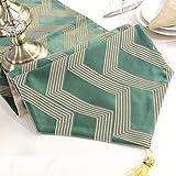 テーブルランナー高密度サテン装飾タッセル小さな吊りボール現代のミニマリストテーブルフラグ (Color : Green, Size : 30*160cm)