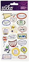 Sticko Yearbook Caption Stickers [並行輸入品]