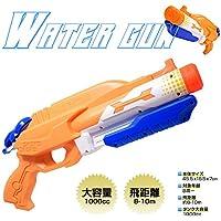 強力水鉄砲 ウォーターガン 水遊び 2噴射口 超強力飛距離 8~10m 1L ポンプアクション エアー圧縮式