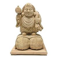 楠 極上彫り大黒天像 33cm 木彫り 仏像