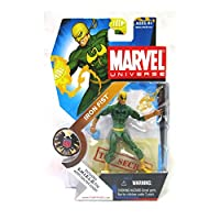 Hasbro Year 2008 Marvel Universe Series 1 Single Pack 4 Inch Tall Action Figure #17 - Variant IRON FIST (Black Dragon